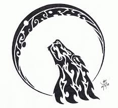 tribal wolf and moon drawing. Perfect And Tribal  Wolf And Moon 2 By HelleticHybrid  And Drawing T