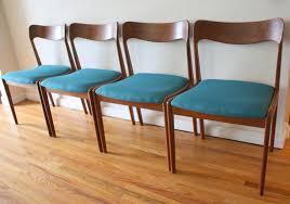 mid century modern danish teak dining chairs and folding table