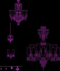 chandelier dwg block for autocad