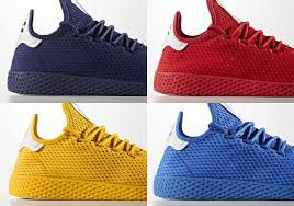 adidas pharrell. the most colorful set yet of pharrell\u0027s adidas tennis hu just dropped, but don\u0027t worry, full spectrum colors will continue soon with upcoming \u201c pharrell
