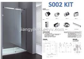 framless bathroom glass sliding door hardware