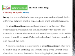 gift of the magi by o henry ppt video online  literary analysis irony