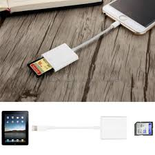 sd card reader adapter cable for iphone 7 plus 6s apple ipad pro