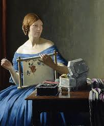 Priscilla by Leonard Campbell Taylor | Sewing art, Art, Stitching art