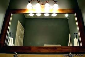 wood framed mirrors. Mirrors Wood Framed Bathroom Charming And Rustic Frame Mirror .