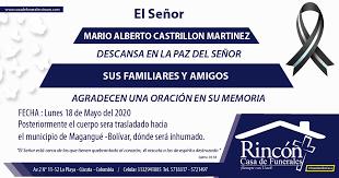 MARIO ALBERTO CASTRILLON MARTINEZ – Rincón – Casa de Funerales
