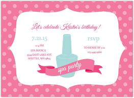 Pink Polka Dot Spa Birthday Invite