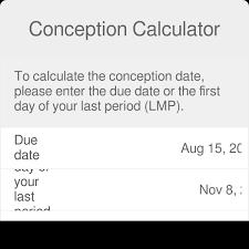 Conception Date Calculator When Did I Conceive Omni
