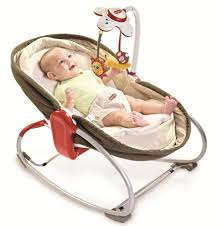 cute brown baby rocking chair design with bouncer