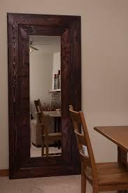 wood framed mirror wooden framed mirror