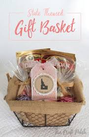 i m always looking for cute and creative gift ideas and gift baskets are my favorite place any collection of items in a cute basket with some cellophane