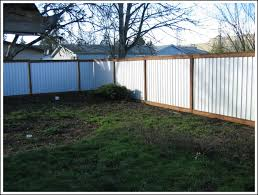 Corrugated Metal Privacy Fence Download Page Best Home Fencing