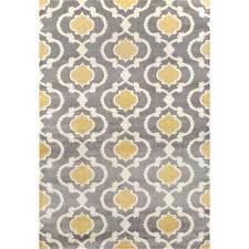 moroccan trellis contemporary gray yellow indoor area rug