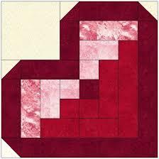 Best 25+ Log cabin quilts ideas on Pinterest | Log cabin quilt ... & Log Cabin Heart Quilt Block Pattern Download Adamdwight.com