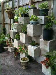 ... Charming Garden Landscaping Decoration With Various Cinder Block Garden  Planters : Delightful Picture Of Decorative Square