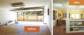 Turning A Garage Into Living Space Makeover 7 Converting A Garage Into A  Dream Studio Housing Ideas Painting