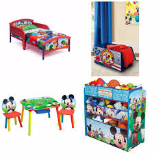 Mickey Mouse Bedroom Furniture Toddler Bedroom Set Mickey Mouse Bed Toy Organizer Table Chairs