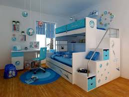 Special Furniture For Teenage Bedrooms With Energetic Appearance  Cool White And Blue Themed Contemporary Bedroom  L