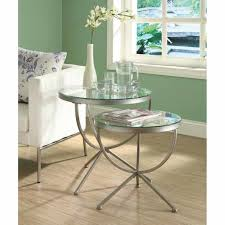 unique metal and glass end tables painting for your house satin silver