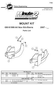 New Fisher Minute Mount 1 2 Plow Frame Mounts Boondocker Equipment Inc