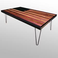 reclaimed american flag wood coffee table or desk modern
