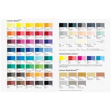 Lascaux Studio Acrylic Printed Colour Chart Jacksons Art