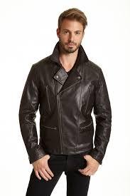 mens asymmetrical leather moto jacket