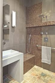 Wet Room Bathroom Contemporary With Brown Built In Bench Funky