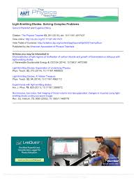 Physics Project On Light Emitting Diodes Pdf Light Emitting Diodes Solving Complex Problems