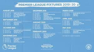 Manchester City Fixtures 2020