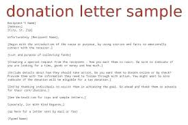 Contribution Letter Campaign Fundraising Letter Template