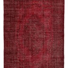 red carpet over size rug red rug over dyed turkish carpet vintage turkish rug handmade