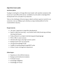 Senior Programmer Job Description