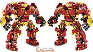 Đồ Chơi Xếp Hình LEGO Lắp Ráp Người Sắt Bộ Giáp Hulkbuster - 650 Chi Tiết    Lego Speed Build Review - YouTube