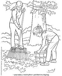 Small Picture Fall Coloring Pages Mulching Fall Leaves Coloring HonkingDonkey