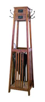Mission Coat Rack Mission Style Coat Rack Brown in Coat Stands 4