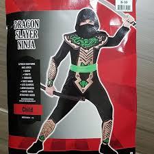 Ninja Suit Size Chart Dragon Slayer Ninja Halloween Costume