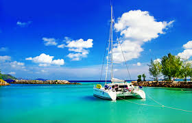 Tropical Island Yacht Sailing In The Seychelles So Seychelles