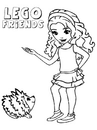 Lego Friend Coloring Pages Friends Animal Coloring Pages New