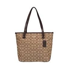 Amazon.com  Coach Outline Signature Zip Top Tote Shoulder Bag   Shoes