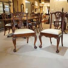 set of 10 gany chippendale ball and claw traditional dining chairs