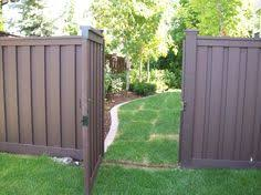 Beautiful Vinyl Privacy Fence Ideas Brown Trex Fencing Inside Decorating