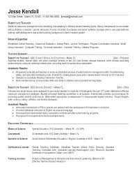 Teachers Resume Objective Life Skills Instructor Resume Teacher