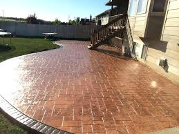 backyard concrete patio ideas backyard stamped concrete patio ideas amazing designs and colors