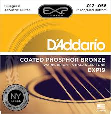 Acoustic Guitar String Tension Chart Daddario Exp19 Coated Phosphor Bronze Light Top Medium
