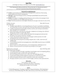 Professional Retail Resume Examples Retail Manager Sample Resume