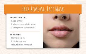 recipe 5 hair removal face mask hair removal is often an uncomfortable process that relies on harsh chemicals or hot wax by using an egg white