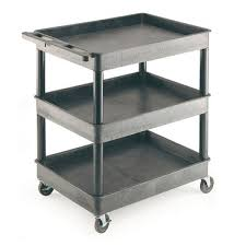 gi337l 3 level shelf tray trolley