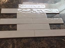 3 x12 white wavy ceramic subway tile for kitchen bathroom wall