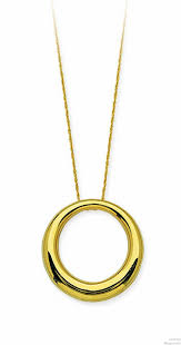 14kt gold circle pendant necklace loading zoom